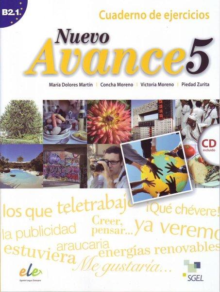 画像1: NUEVO AVANCE 5 (B2.1). CUADERNO DE EJERCICIOS + CD(ワークブック) (1)